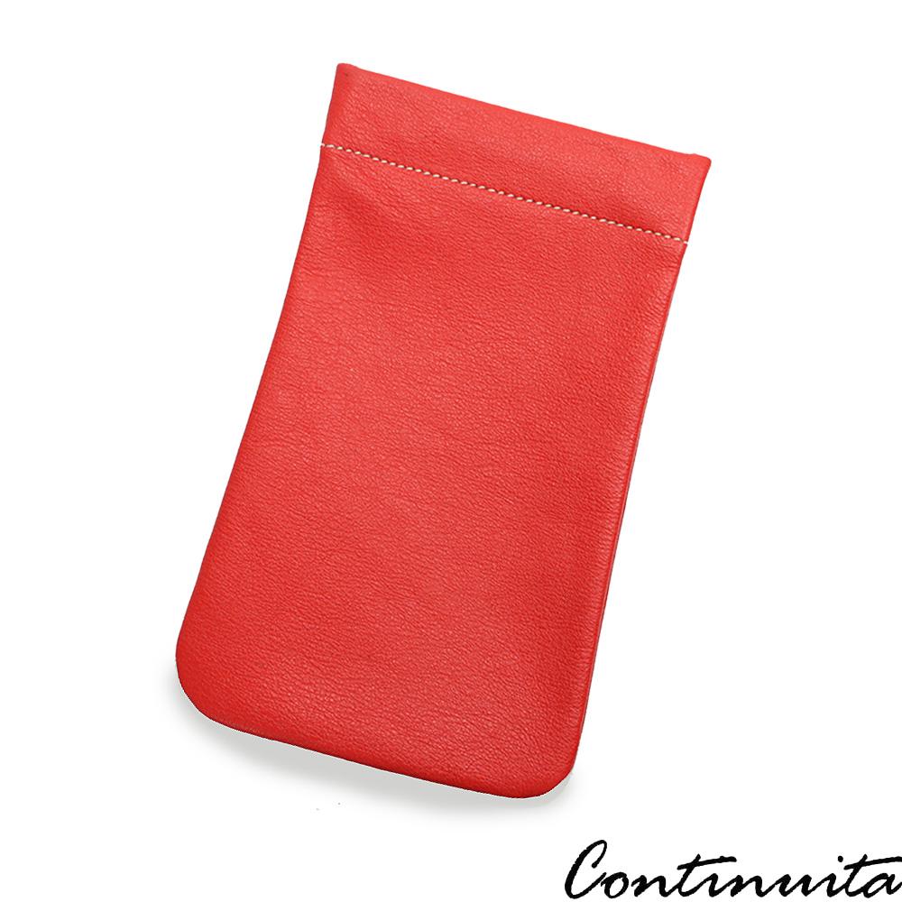 Continuita 康緹尼 頭層牛皮墨鏡女孩眼鏡包(紅色)