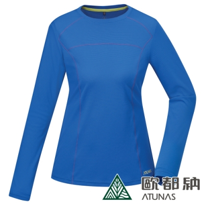 【ATUNAS 歐都納】女款POLARTEC防曬抗臭長袖T恤A-T1917W天藍
