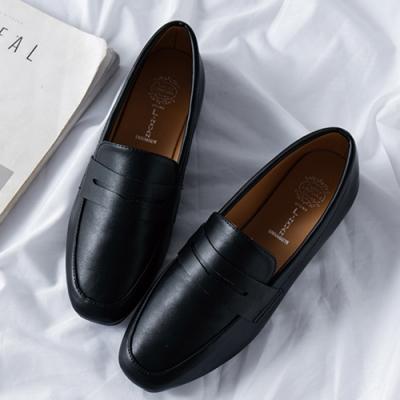 KEITH-WILL時尚鞋館 純淨簡約復古豆豆鞋 黑