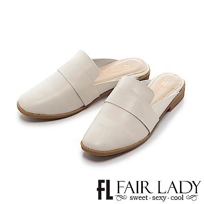 Fair Lady Hi Spring 率性樂福造型懶人穆勒鞋 白