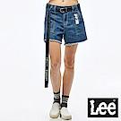 Lee LeeXSmiley聯名高腰牛仔短褲/Smiley-淺藍色-女款