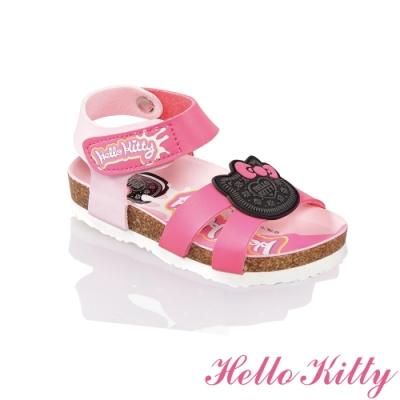 (雙11)Hello Kitty童鞋 輕量減壓吸震腳床型涼鞋-桃