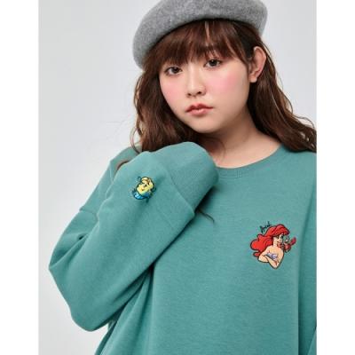 CACO-中大尺碼-小美人魚寬鬆上衣-女【VDI194】