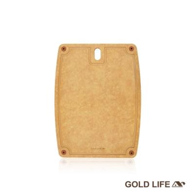 GOLD LIFE 美國原木不吸水抗菌砧板 M (食品級 / 切肉切菜砧)