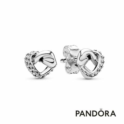 【Pandora官方直營】愛心扭結耳環