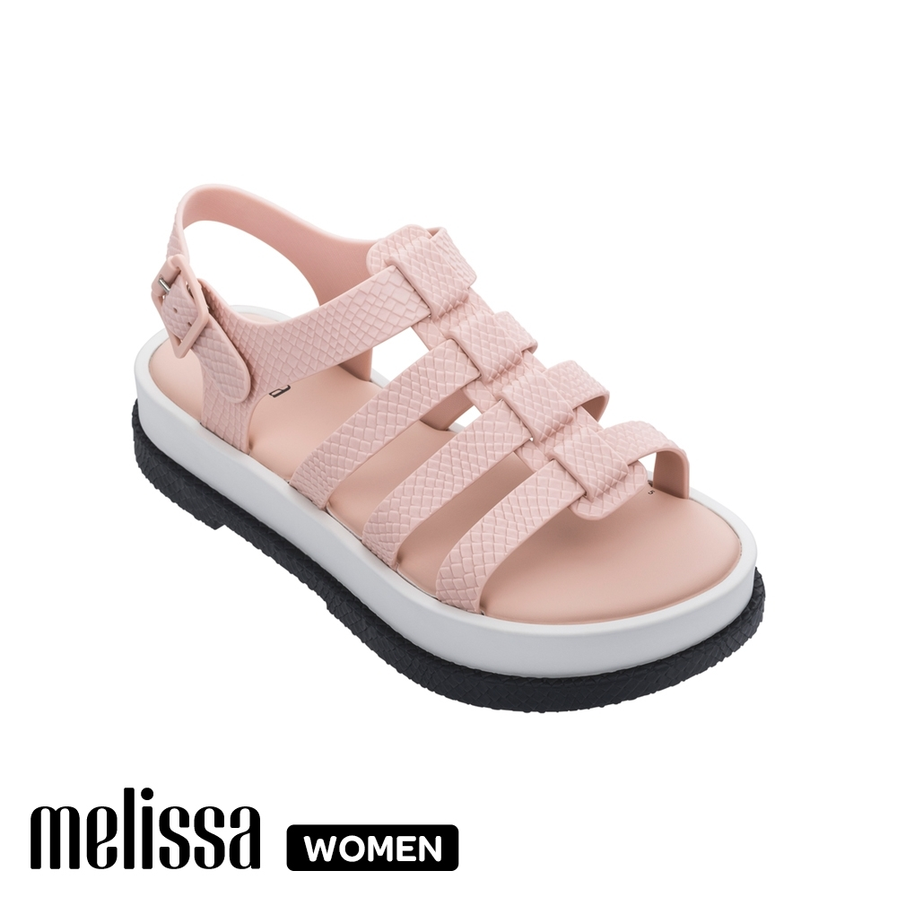 Melissa皮紋厚底涼鞋 粉 product image 1