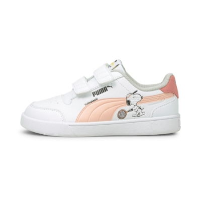 PUMA PEANUTS Shuffle V PS 女童 休閒鞋 白粉-37574002