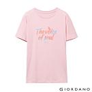GIORDANO 女裝MUSIC系列印花短袖T恤-52 女郎粉