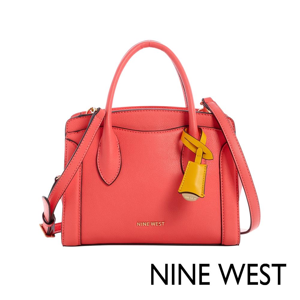 NINE WEST CRAWFORD手提/斜背劍橋小包-珊瑚紅(115805)
