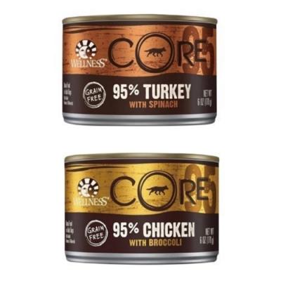 WELLNESS寵物健康-CORE無穀系列95%主食狗罐-6OZ(170g)24罐組 (贈7-11咖啡禮券)