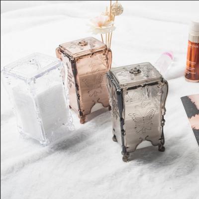【Cap】抽取式復古化妝棉收納盒