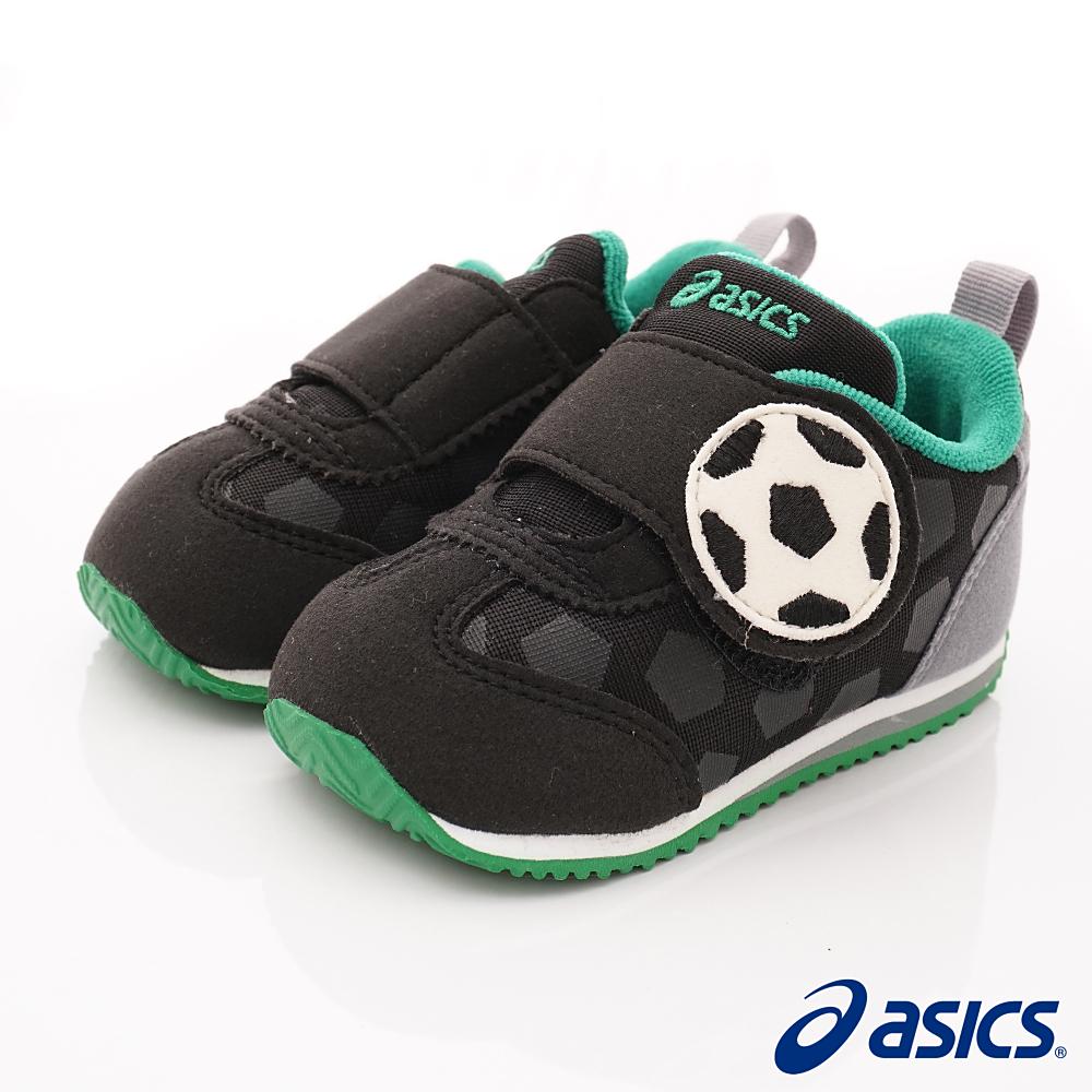 亞瑟士SUKU2機能鞋 足球造型學步款 44A001-001黑綠(寶寶段)