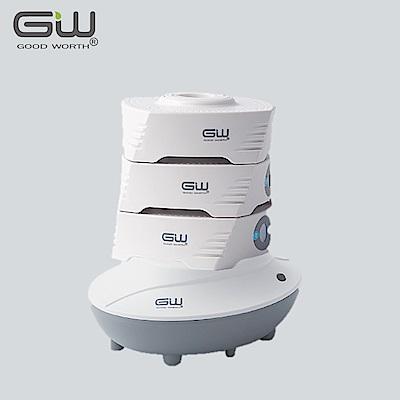 GW水玻璃 疊疊樂(三疊入) 分離式除濕機兩件組 含還原座