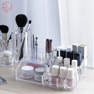 日本霜山 壓克力透明化妝品多格口紅收納盒