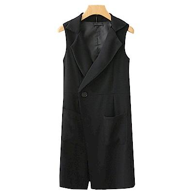 SQUA 無袖長版西裝外套
