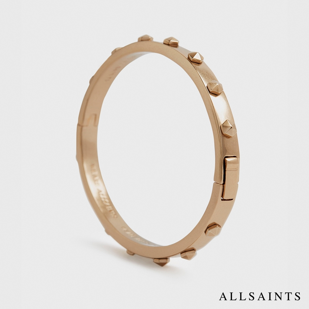 ALLSAINTS HEX 六角造型鉚釘圓形手環-黃銅