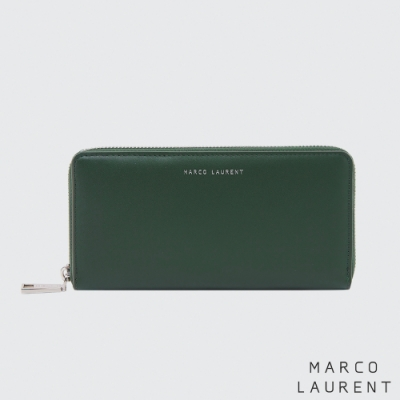 MARCO LAURENT Eternal 牛皮多層拉鍊長夾 - 深綠