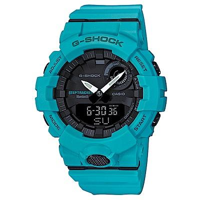 G-SHOCK機能與智能完美科技藍芽連接運動錶(GBA-800-2A2)藍綠48.6mm