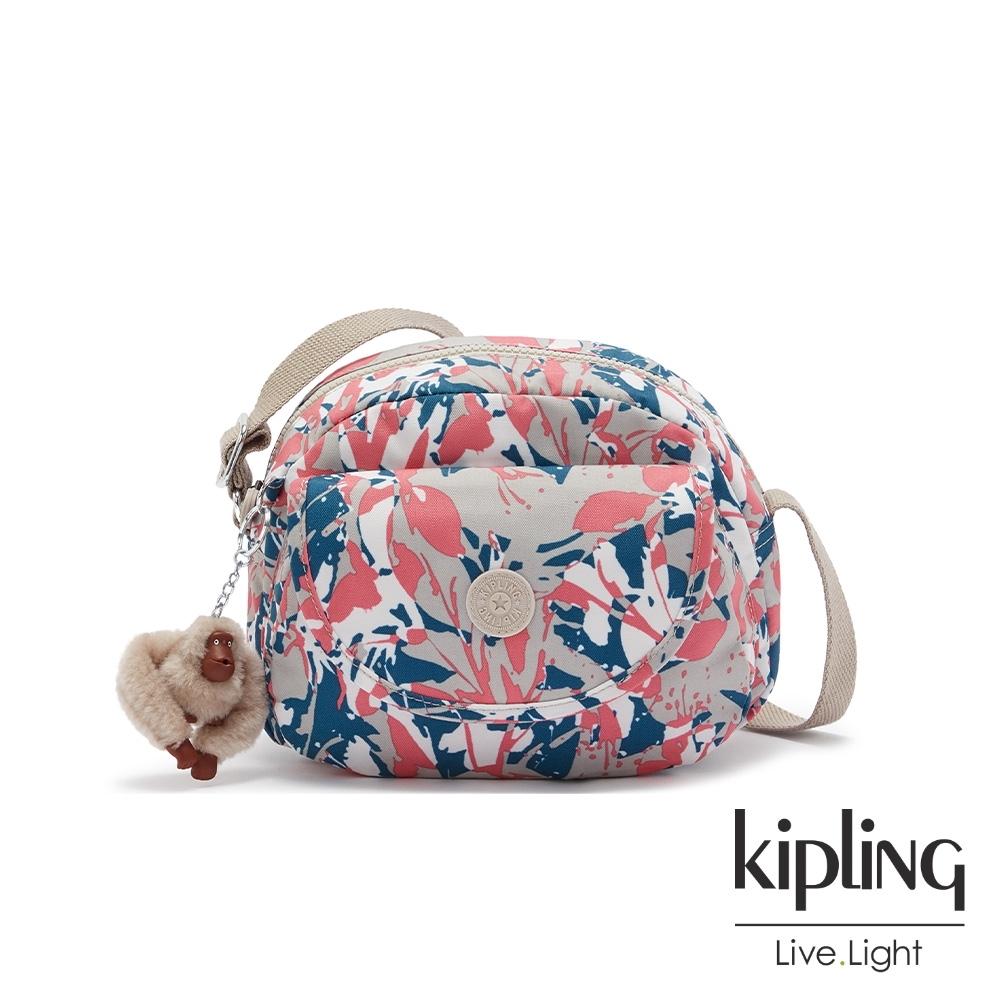 Kipling 碰撞魅力潑墨翻蓋側背小包-STELMA