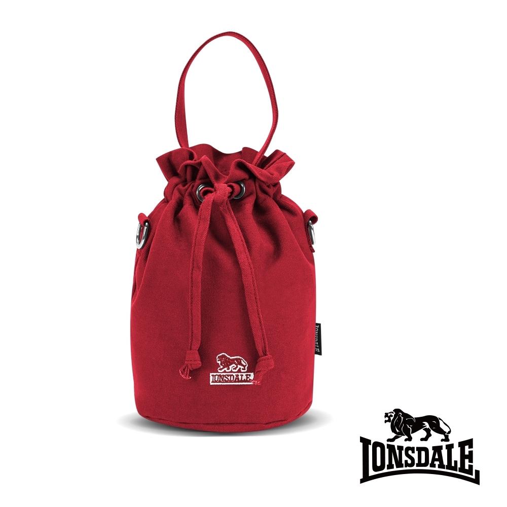 【LONSDALE】英國60周年經典小獅包-帆布斜背水桶包-深紅  LD1313