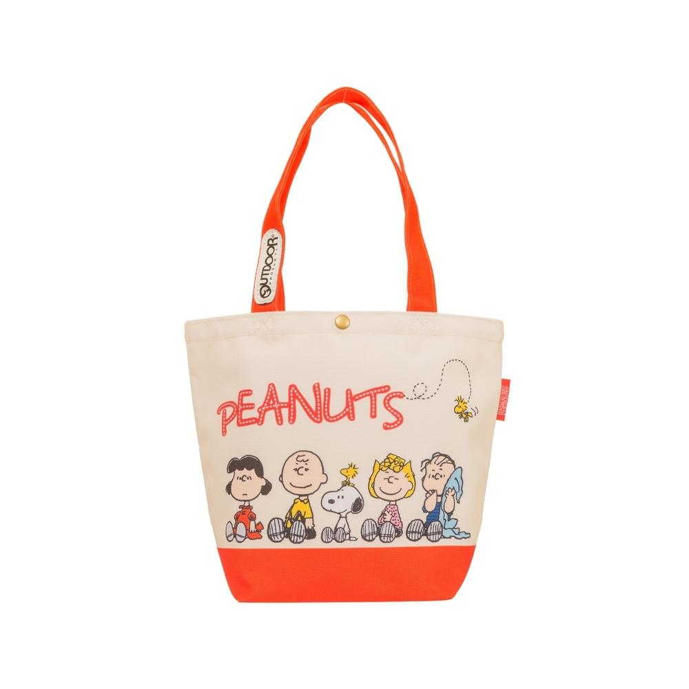 【OUTDOOR】SNOOPY聯名款購物袋-米白色 ODP19F06BG