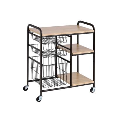 莫菲思 洋亦萬用移動式廚房收納推車/置物架/收納架