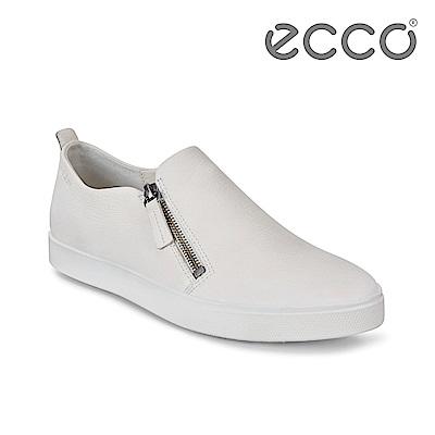 ECCO GILLIAN 質感時尚尖頭拉鍊懶人鞋 女-白