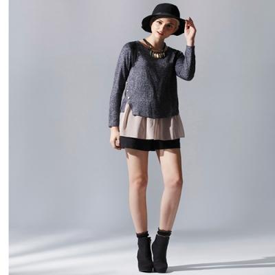 【ohoh-mini 哺乳裝】時尚典雅蕾絲雪紡哺乳上衣