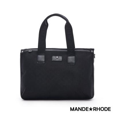 MANDE RHODE - 普徠德 - 美系潮男風格簡約公事包 - 格紋黑