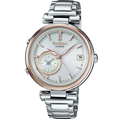 SHEEN TIME RING 優雅都會藍牙錶(SHB-100SG-7A)銀/35mm @ Y!購物