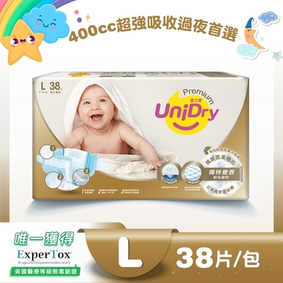 Unidry優力柔緻寶貝紙尿褲L號(38片/包)