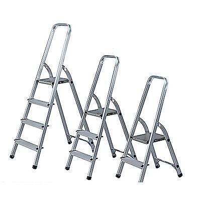 金德恩 台灣製造 大型輕量款四階全鋁合金扶手平台梯/階梯/關節梯/馬椅梯