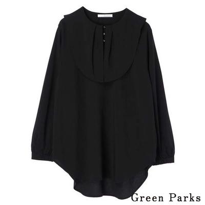 Green Parks 特色荷葉領口褶皺襯衫上衣
