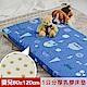 【米夢家居】 夢想家園-冬夏兩用馬來西亞進口100%天然乳膠嬰兒床墊-深夢藍60X120 product thumbnail 1
