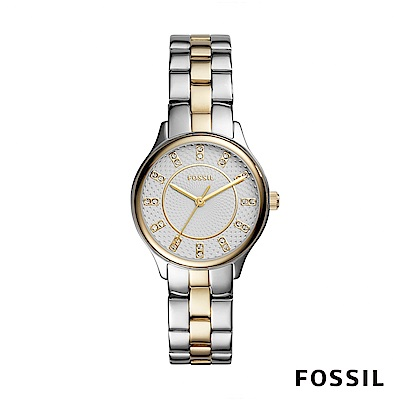 FOSSIL Modern Sophisticate雙色不銹鋼手錶 36mm BQ1574
