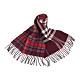 BURBERRY英倫風拼接格紋設計羊毛圍巾(深紅x紅白格紋) product thumbnail 1