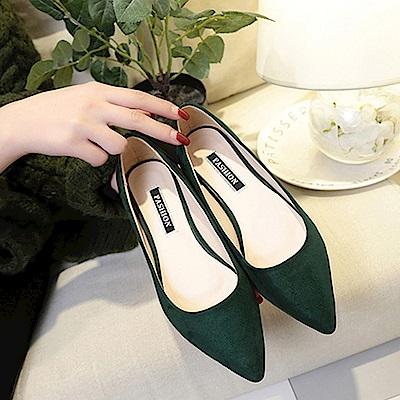 韓國KW美鞋館 破盤價簡約平底鞋-綠色