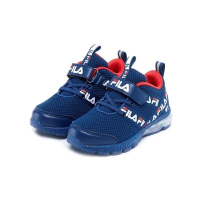 FILA KIDS 中童氣墊慢跑鞋-藍紅 2-J826V-331