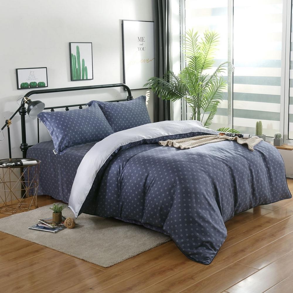 夢工場點點光影40支紗萊賽爾天絲四件式床罩兩用被-加大