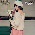 東京著衣-yoco 背殺必備交叉綁帶V領針織上衣(共二色)