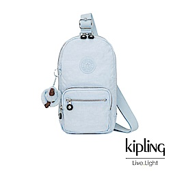 Kipling 棉花糖藍單肩迷你拉鍊斜背包-BLAKE