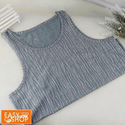 EASY SHOP-iONNO-舒適自在男性圓領背心-科技藍