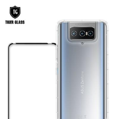 T.G ASUS ZenFone8 Flip (ZS672KS) 手機保護超值2件組(透明空壓殼+鋼化膜)