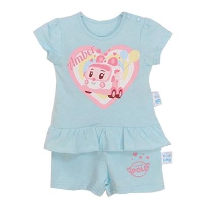 POLI正版安寶短袖精梳純棉套裝 k50539 魔法Baby