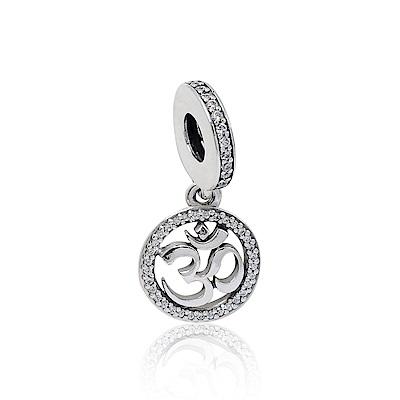 Pandora 潘朵拉 OM符號鑲鋯 垂墜純銀墜飾