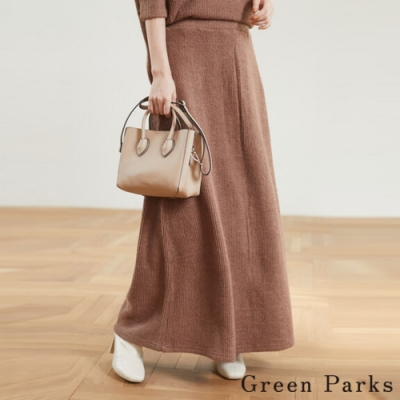 Green Parks 彈性毛料羅紋長裙