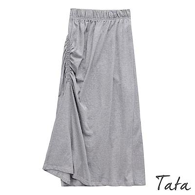 氣質側邊抓皺修身裙 TATA