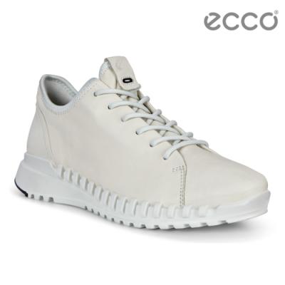 ECCO ZIPFLEX W 酷飛運動單色戶外休閒鞋 女鞋白色