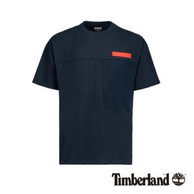 Timberland 男款深寶石藍寬鬆防紫外線口袋短袖T恤|A1VU2