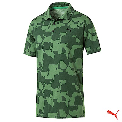 PUMA GOLF 迷彩短袖POLO衫 綠 RICKIE 歐規 577911 01
